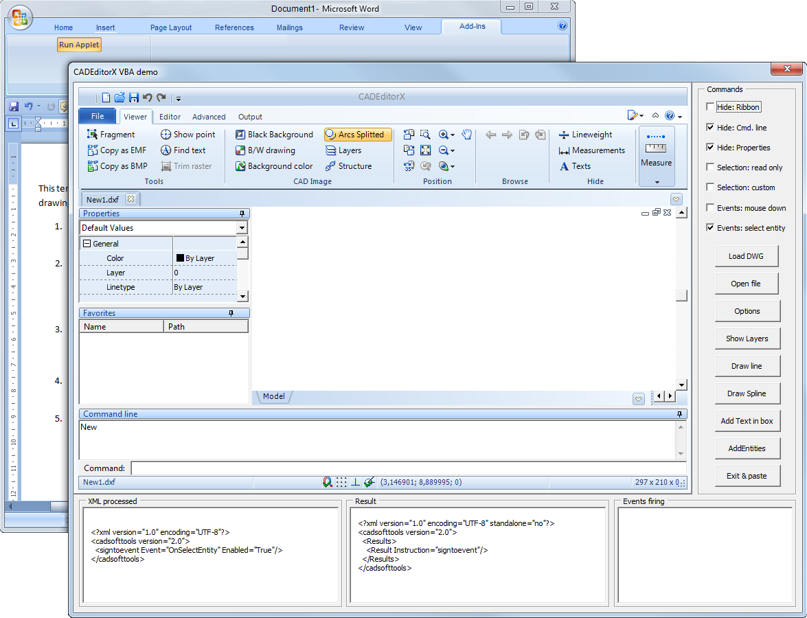 CADEditorX ActiveX control  An ActiveX library for work with