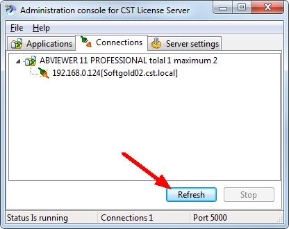 Floating License Server Registration